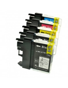 KIT 5 CARTUCCE LC980 LC1100...