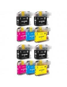 10 CARTUCCE LC223 BK/C/M/Y...
