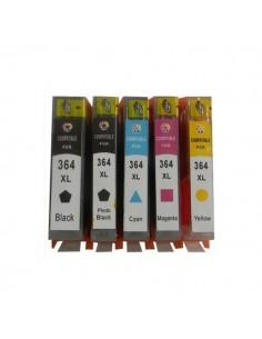 5 CARTUCCE HP 364XL...