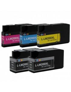 5 CARTUCCE LEXMARK 200XL BK...